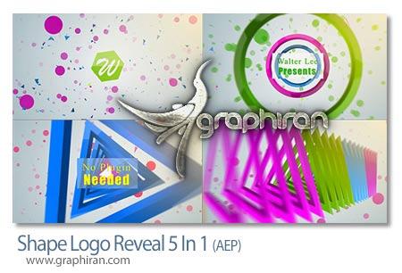 پروژه جدید افتر افکت نمایش شکل های لوگو