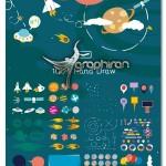 کیت گرافیکی المان های فضایی کارتونی Space Kit Creator