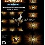 اکشن فتوشاپ افکت شعاع نور SuperFlare Back Light Burst Action
