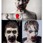 اکشن فتوشاپ تبدیل چهره به زامبی Zombie Photoshop Action