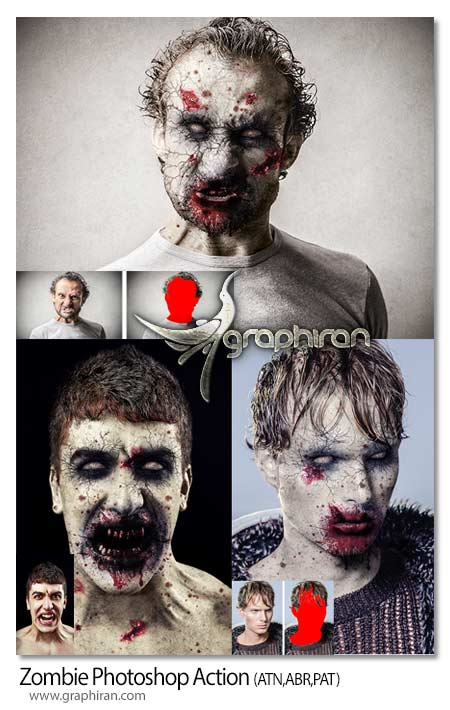 Zombie Photoshop Action