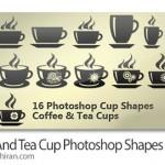 شیپ فتوشاپ فنجان و لیوان قهوه Coffee Cup Photoshop Shape