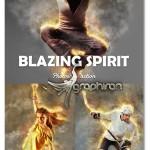 اکشن فتوشاپ آتش گرفتن عکس Blazing Spirit Fire Photoshop Action