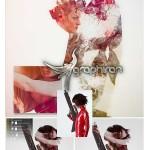اکشن فتوشاپ ترکیب هنری المان های عکس Double Exposure 3