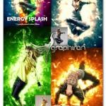 اکشن فتوشاپ افکت انتشار انرژی Energy Splash Photoshop Action
