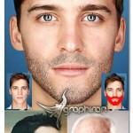 اکشن فتوشاپ گذاشتن ریش روی صورت Facial Hair Photoshop Action