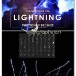 مجموعه براش فتوشاپ رعد و برق جدید Lightning Photoshop Brushes