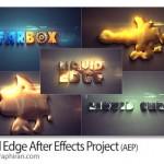 دانلود پروژه افتر افکت تشکیل لوگو ازحالت مایع Liquid Edge