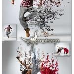 اکشن فتوشاپ ایجاد طرح ریختن مایعات Liquify Photoshop Action