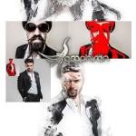اکشن فتوشاپ ترکیب افکت های گرافیکی Mixing Art Photoshop Action