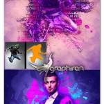 اکشن فتوشاپ ترکیب سبک های هنری مختلف MultiArt Photoshop Action