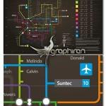 طرح آماده نقشه خطوط مترو Neon Subway Map Information Design