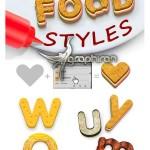 ۱۸ استایل فتوشاپ غذا و میوه ها Food Photoshop Styles