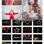 تصاویر پوششی بوکه و نور جشن کریسمس Christmas Creative Overlays