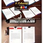 ۸ طرح آماده و لایه باز سربرگ اداری و شرکتی فرمت PSD، EPS و AI