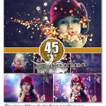 تصاویر پوششی افکت های نوری Blowing Glitter Photoshop Overlays