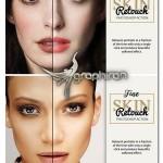 اکشن فتوشاپ روتوش پوست کاربردی Fine Skin Retouch Photoshop Action