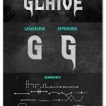 فونت انگلیسی Glaive الهام گرفته شده از موسیقی راک و متال