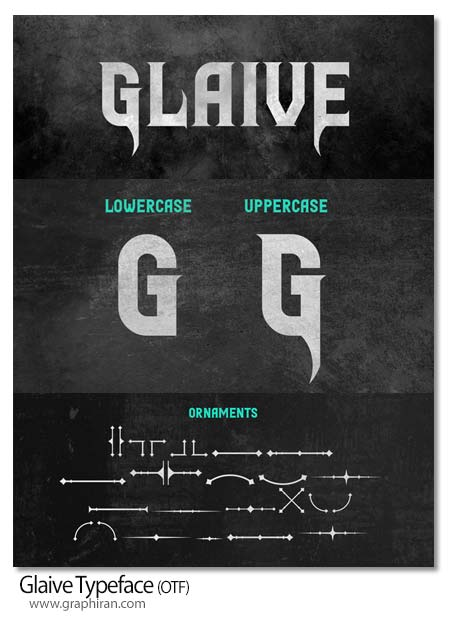 فونت انگلیسی Glaive Typeface