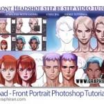 فیلم آموزش نقاشی چهره در فتوشاپ Gumroad Front Portrait Tutorial