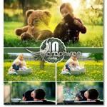 تصاویر افکت نور جادویی کتاب Magic Shine Book Photoshop Overlay