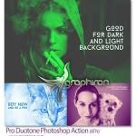 اکشن فتوشاپ تم رنگی ویژه Pro Duotone Photoshop Action