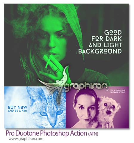 Pro Duotone Photoshop Action
