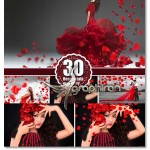 تصاویر پاشیدن گل رز قرمز Falling Petals Photoshop Overlays