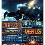 استایل های فتوشاپ منظومه شمسی Space 10 Solar System Styles