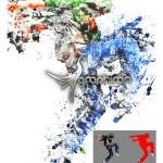 اکشن فتوشاپ ذرات پخش شده جوهر Splatter Ink Photoshop Action