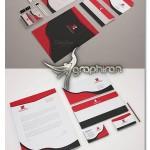 نمونه ست اداری لایه باز با رنگ بندی مشکی و قرمز – شماره ۱۲۱