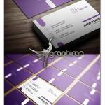 دانلود طرح لایه باز کارت ویزیت ساده و شیک رنگ بنفش – شماره ۳۶۳