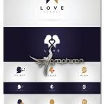 دانلود مجموعه ۷ لوگوی سر زن فرمت وکتور EPS از ShutterStock