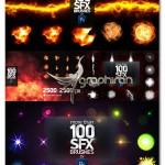 دانلود بیش از ۱۰۰ براش افکت های ویژه فتوشاپ PS SFX BRUSHES