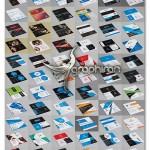 دانلود مجموعه ۱۰۰ کارت ویزیت حرفه ای لایه باز – شماره ۳۶۸