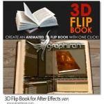 ۳D Flip Book v1.1 پلاگین افتر افکت ساخت انیمیشن ورق زدن کتاب