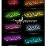 اکشن فتوشاپ افکت متن چراغ ۳ بعدی ۳D Light Text Photoshop Action