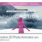 پروژه افترافکت متحرک سازی ۳ بعدی عکس Photomotion 1.5 3D Photo Animator