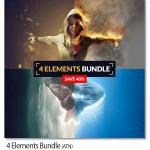 مجموعه ۴ اکشن عناصر طبیعی خاک، باد، آتش و یخ Elements Bundle