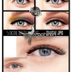 تصاویر پوششی مژه آرایش شده Beauty Eyelashes Makeup Overlay
