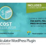 افزونه وردپرس محاسبه هزینه ها Cost Calculator WordPress Plugin v1.0.6