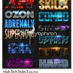 مجموعه استایل های فتوشاپ تکنولوژیک مدرن High Tech Styles II