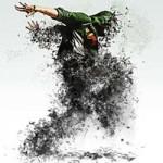 اکشن فتوشاپ افکت خاکستر بدن انسان Human Ashes Photoshop Action