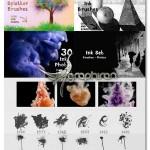 دانلود مجموعه براش فتوشاپ و تصاویر با کیفیت جوهر Ink Set