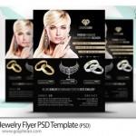پوستر آماده و لایه باز جواهر فروشی Jewelry Flyer PSD Template