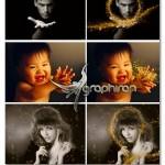 تصاویر پوششی ذرات طلایی جادویی Magic Shine Dust Glitter Photoshop