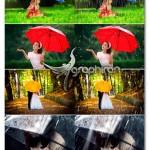 تصاویر پوششی افکت بارش باران Rain Photoshop Overlays