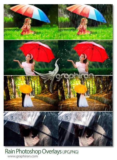تصاویر پوششی بارش باران