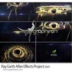 دانلود پروژه افتر افکت اشعه سیاره زمین VideoHive Ray Earth