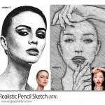 اکشن فتوشاپ ایجاد افکت نقاشی با مداد Realistic Pencil Sketch